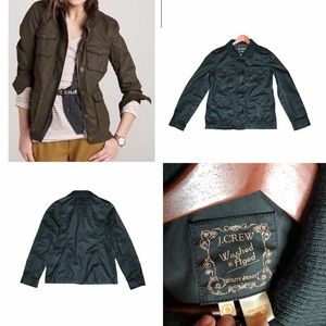 J.Crew Charcoal Washed & Aged Utility Jacket Small